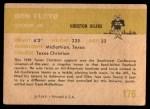 1961 Fleer #176  Don Floyd  Back Thumbnail