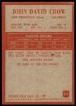 1965 Philadelphia #173  John David Crow  Back Thumbnail