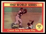 1961 Topps #309   -  Gino Cimoli 1960 World Series - Game #4 - Cimoli Safe in Critical Play Front Thumbnail