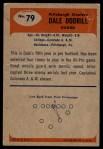 1955 Bowman #79  Dale Dodrill  Back Thumbnail