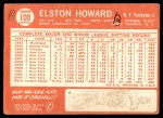 1964 Topps #100  Elston Howard  Back Thumbnail