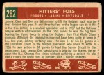 1959 Topps #262   -  Don Drysdale / Clem Labine / Johnny Podres Hitters' Foes Back Thumbnail