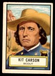 1952 Topps Look 'N See #53  Kit Carson  Front Thumbnail