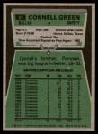1975 Topps #91  Cornell Green  Back Thumbnail