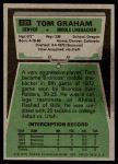 1975 Topps #239  Tom Graham  Back Thumbnail