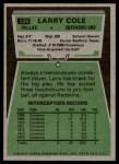 1975 Topps #229  Larry Cole  Back Thumbnail