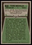 1975 Topps #493  Tom Neville  Back Thumbnail