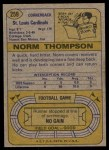 1974 Topps #259  Norm Thompson  Back Thumbnail