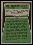 1975 Topps #180  Forrest Blue  Back Thumbnail