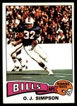 1975 Topps #500  O.J. Simpson  Front Thumbnail