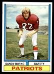 1974 Topps #247  Sandy Durko  Front Thumbnail