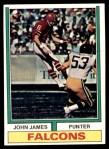1974 Topps #348  John James  Front Thumbnail