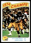 1975 Topps #526   -  Terry Bradshaw / Franco Harris AFC Championship Game Front Thumbnail