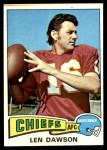 1975 Topps #120  Len Dawson  Front Thumbnail