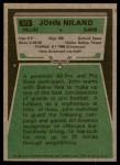 1975 Topps #375  John Niland  Back Thumbnail