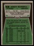 1975 Topps #90  Andy Russell  Back Thumbnail