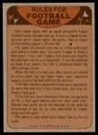 1974 Topps  Checklist   49ers Back Thumbnail