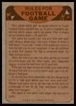 1974 Topps  Checklist   Kansas City Chiefs Team Back Thumbnail