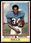 1974 Topps #487  Jim Braxton  Front Thumbnail