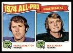 1975 Topps #208   -  Fran Tarkenton / Ken Stabler All-Pro Quarterbacks Front Thumbnail