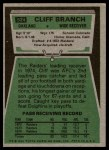 1975 Topps #524  Cliff Branch  Back Thumbnail
