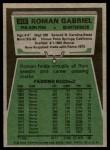1975 Topps #310  Roman Gabriel  Back Thumbnail