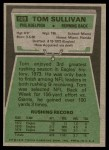 1975 Topps #509  Tom Sullivan  Back Thumbnail