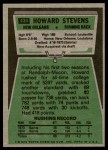 1975 Topps #434  Howard Stevens  Back Thumbnail