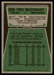 1975 Topps #405  Fred Biletnikoff  Back Thumbnail