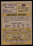 1974 Topps #495  Emerson Boozer  Back Thumbnail