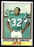 1974 Topps #495  Emerson Boozer  Front Thumbnail