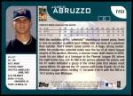 2001 Topps Traded #151 T Jared Abruzzo  Back Thumbnail