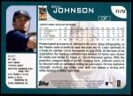 2001 Topps Traded #179 T Ben Johnson  Back Thumbnail