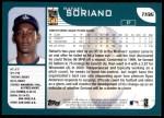 2001 Topps Traded #196 T Rafael Soriano  Back Thumbnail