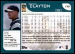 2001 Topps Traded #10 T Royce Clayton  Back Thumbnail