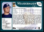 2001 Topps Traded #184 T Nick Neugebauer  Back Thumbnail