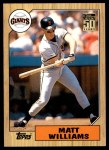2001 Topps Traded #126 T  -  Matt Williams 87  Front Thumbnail