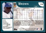2001 Topps Traded #58 T Dee Brown  Back Thumbnail