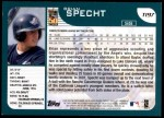 2001 Topps Traded #197 T Brian Specht  Back Thumbnail