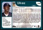 2001 Topps Traded #199 T Juan Uribe  Back Thumbnail