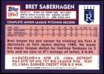 2001 Topps Traded #110 T  -  Bret Saberhagen 84  Back Thumbnail