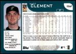 2001 Topps Traded #62 T Matt Clement  Back Thumbnail