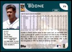 2001 Topps Traded #5 T Bret Boone  Back Thumbnail