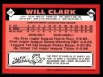 2001 Topps Traded #117 T  -  Will Clark 86  Back Thumbnail