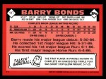 2001 Topps Traded #114 T  -  Barry Bonds 86  Back Thumbnail