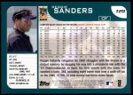 2001 Topps Traded #28 T Reggie Sanders  Back Thumbnail