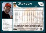 2001 Topps Traded #46 T Mike Jackson  Back Thumbnail