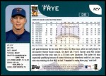 2001 Topps Traded #27 T Jeff Frye  Back Thumbnail