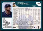 2001 Topps Traded #177 T D'Angelo Jimenez  Back Thumbnail