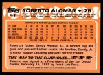 2001 Topps Traded #129 T  -  Roberto Alomar 88  Back Thumbnail